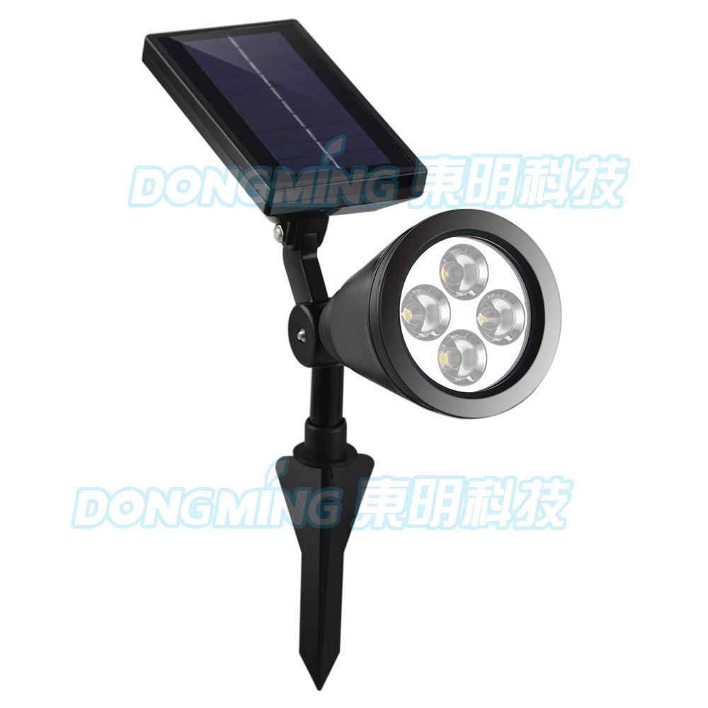 A Pair Outdoor 4 LEDs LED Solar LED Spotlight Garden Lawn Lamp Landscape Spot