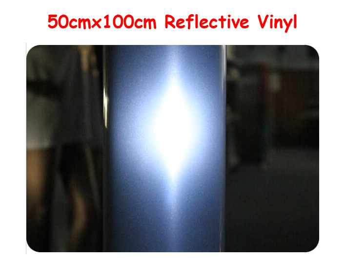 High Quality 50cmx100cm Reflective Light Heat Transfer Vinyl by Heat Press Cutting Plotter T-shirt Print(China (Mainland))