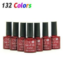 Nail Gel Polish UV&LED Shining Colorful 132 Colors10ML Long lasting soak off Varnish cheap Manicure(China (Mainland))