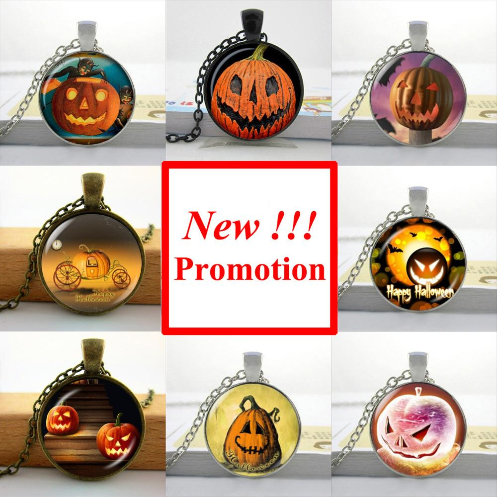 2015 New Fashion Pumpkin Halloween Necklace Halloween Pendant Personalized Picture Necklace(China (Mainland))