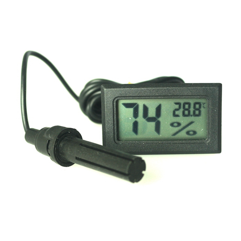 5 PCS LCD Digital Thermometer Hygrometer Humidity Temperature Meter  -50~ 110 Celsius For Fridge Freezer With Probe
