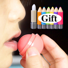 1+1Gift Cute Pencil Baby Sphere natural plant sphere fruit lip balm lip sweet smell globe lip pomade EQD591(China (Mainland))