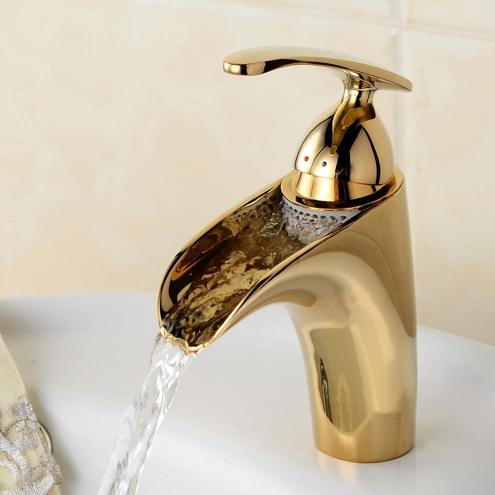 Buy Becola Free Shipping Bathroom Faucet Gold Plated Washbasin Water Tap Chrome