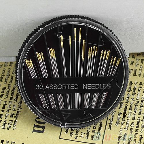30Pcs Assorted Hand Sewing Needles Quilt Embroidery Mending Craft Sew Case 2MVN