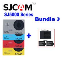 Original SJCAM SJ5000 SJ5000X Elite Plus SJ5000 WIFI Sj SJ 5000 30 M Impermeable Se Divierte La Cámara DV Cam + 2 Batería + Cargador Doble