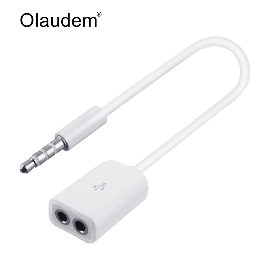 3.5mm 1 Male to 2 Port Female Audio Stereo Jack Headphone Splitter Cable Adapter For Mobile Phone Tablet PC MP3 MP4 AXC608(China (Mainland))