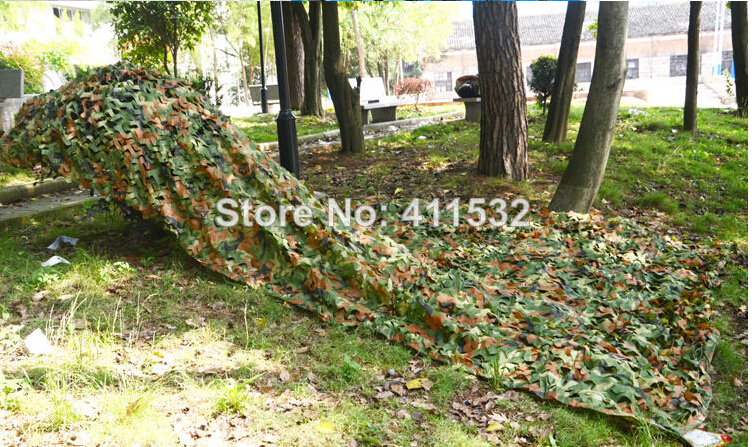 4x2m Car Drop netting Hunting Camping Military jungle Camouflage Net Desert Leaves for Military CA40210(China (Mainland))
