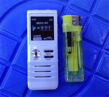 Metal body 8GB digital audio recorder stereo agc with speaker and mic function with retail box white color(China (Mainland))