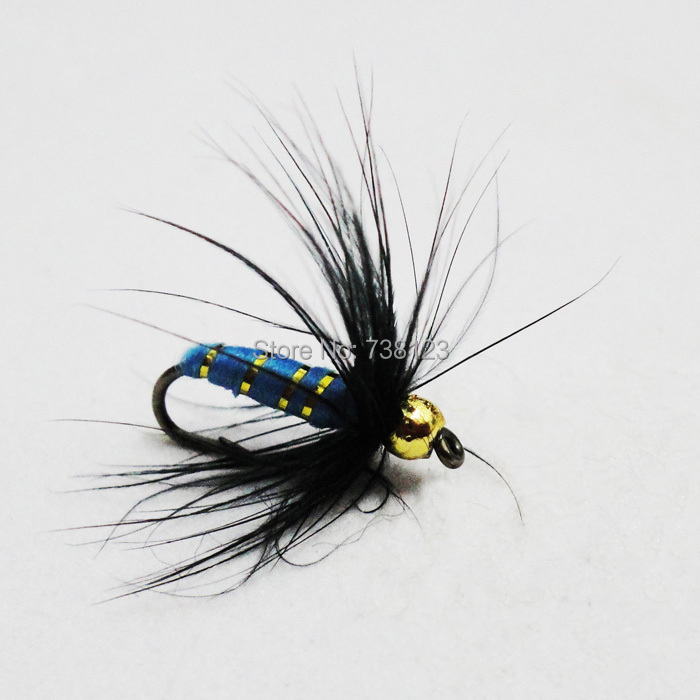 Wholesale Fly Fishing Flies: Wholesale Blue Color Wet HOT Freshwater Fly Fishing Lures
