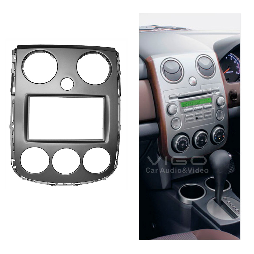 11-236 Car Radio Facia MAZDA Verisa 2007+ Stereo Dash Kit Fitting Installation Fascia Face Plate Panel DVD Frame Double DIN - Vigo Auto Electronics Ltd. store