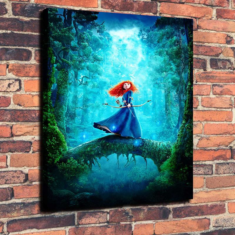Pixar Posters Brave Print Painting on Canvas Wall Art Picture Home Decoration ( No Framed )(China (Mainland))