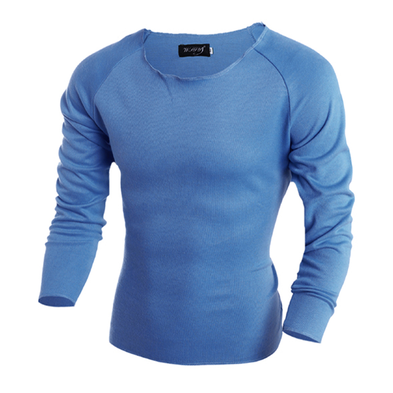 Mens sweaters solid color brand men brief pullover men polo sweater slim o-neck long-sleeve sweater male clothes hot sale(China (Mainland))