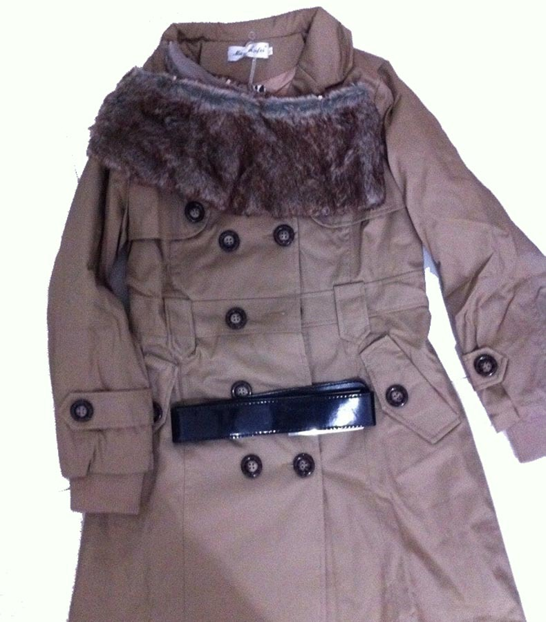 2015 Faux Fur Lining Women's Fur Collars Ladies Coats Winter Warm Long Coat Jacket Cotton Clothes Thermal Parkas #10106