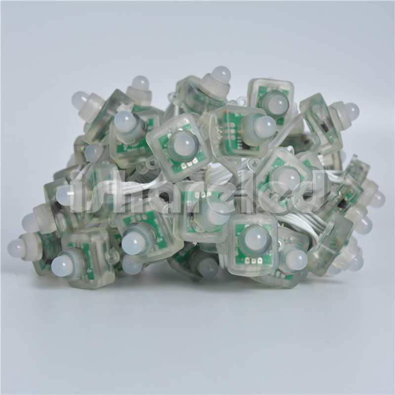 50Pcs DC5V 12mm T1515 RGB Pixel LED Module String Light Addressable IP68(China (Mainland))