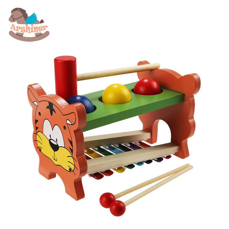 Wooden Musical Toys : Arshiner children kid wooden musical toys xylophone wisdom