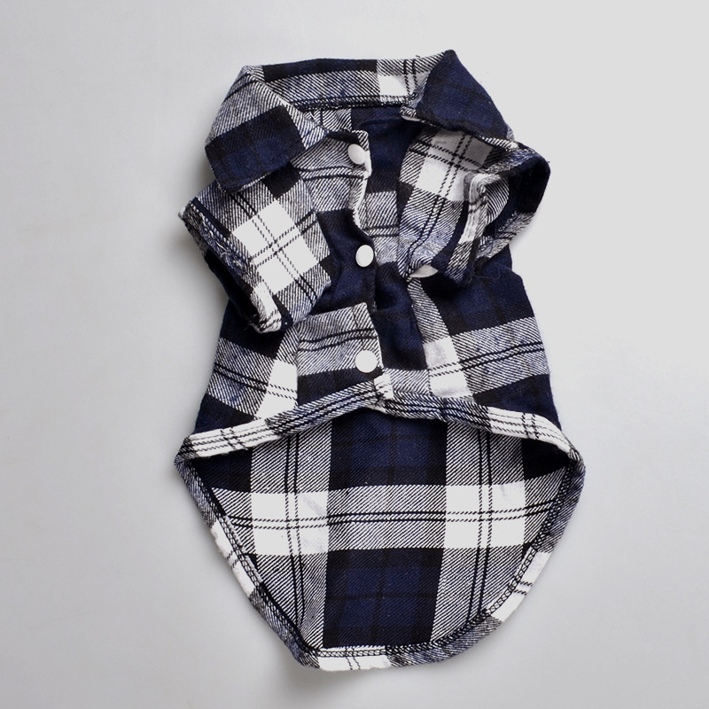 font b Plaids b font Grid Checker Shirt Lapel Costume Dog Clothes The Spring Festival