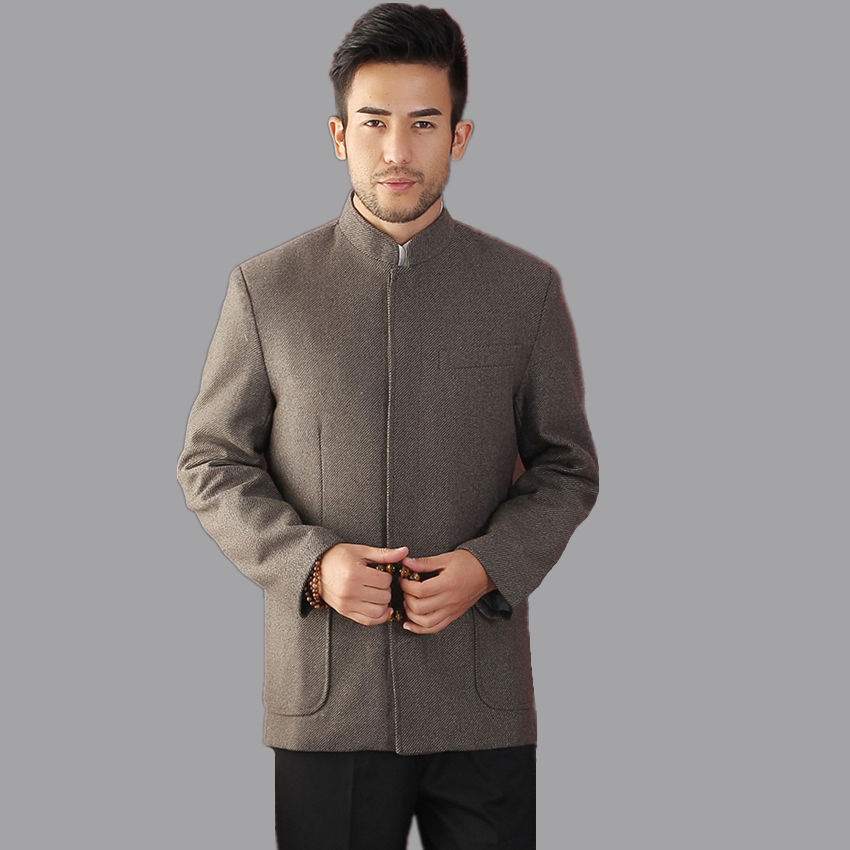 High Quality Traditional Chinese Style Men Wool Jacket Coat Autumn Winter Outerwear Size M L XL XXL XXXL hombre chaqueta Mim16AОдежда и ак�е��уары<br><br><br>Aliexpress
