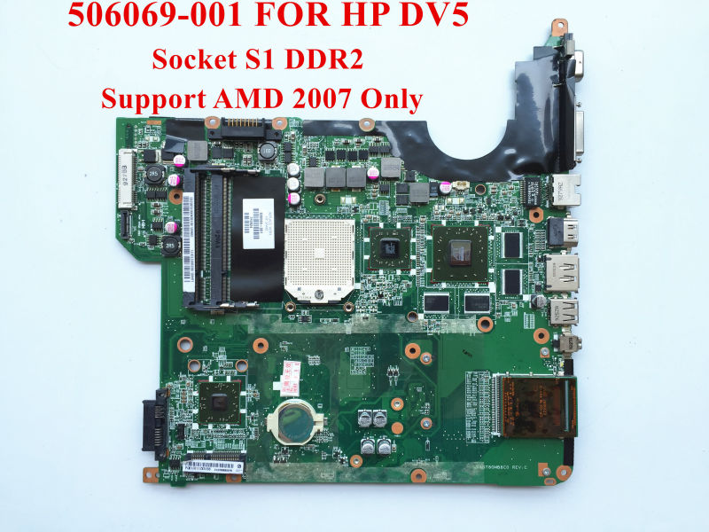 Genuine replacements for HP Pavilion DV5 Motherboard 506069-001 DAQT8GMB8C0 Socket S1 DDR2 HD3650 512M Fully tested(China (Mainland))