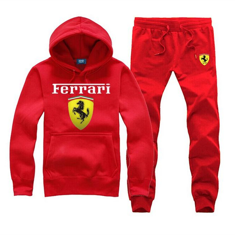 2016 Brand clothing Ferrary men hoodie outdoor sports suits casual jogging jogger set size US S-3XL men sweatshirts(China (Mainland))