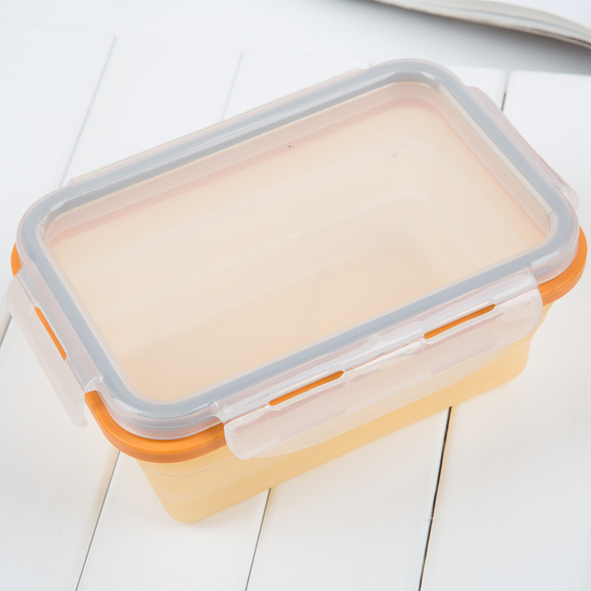 100% food grade Silicone collapsible food preservation box 350ml/500ml/680ml/900ml for choose(China (Mainland))