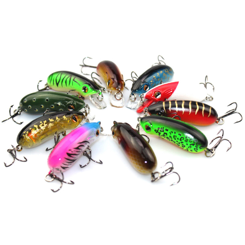 Hot style ! 10pcs/lot Frog bait Small delicate symbolism fast submerged type killing the big fish ARTIFICIAL FISHING BAITS(China (Mainland))