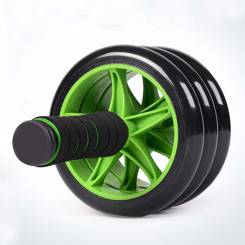 1pc ABS Green Abdominal Wheel Ab Roller With Mat For Workout Exercise Fitness Equipment -- SPC022 PR15(China (Mainland))