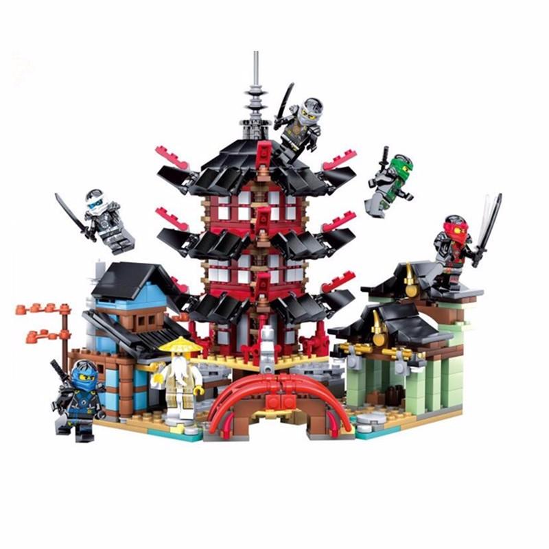 Ninja Temple of Airjitzu Ninja Smaller Version Bozhi 737 pcs Blocks Set Toys for Kids Building Bricks Toy Ninja Gift(China (Mainland))