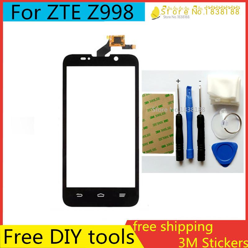 Здесь можно купить  Free DIY Tools+100%Original New  For ZTE Z998 Touch Screen Glass Capacitive sensor screen Screen Black For ZTE Z998 10Pcs/lot  Телефоны и Телекоммуникации