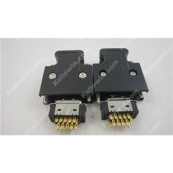 Free Shipping OEM MR-J2CN1 (x2),Connector Kit CN1 I/O IAK3_SERVO ,MRJ2CN1 SCSI 20pin Plug for MR-J2S Servo,replace 3M CN2 Plug(China (Mainland))