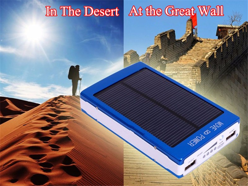 Portable Power Bank 12000mAh Solar Charger Powerbank External Battery carregador portatil para celular for iPhone 6s Cell phones