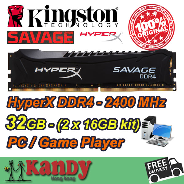 Kingston Hyperx SAVAGE Game Player desktop memory RAM DDR4-2400Mhz 32GB Non ECC 288 Pin DIMM memoria computer computador(China (Mainland))