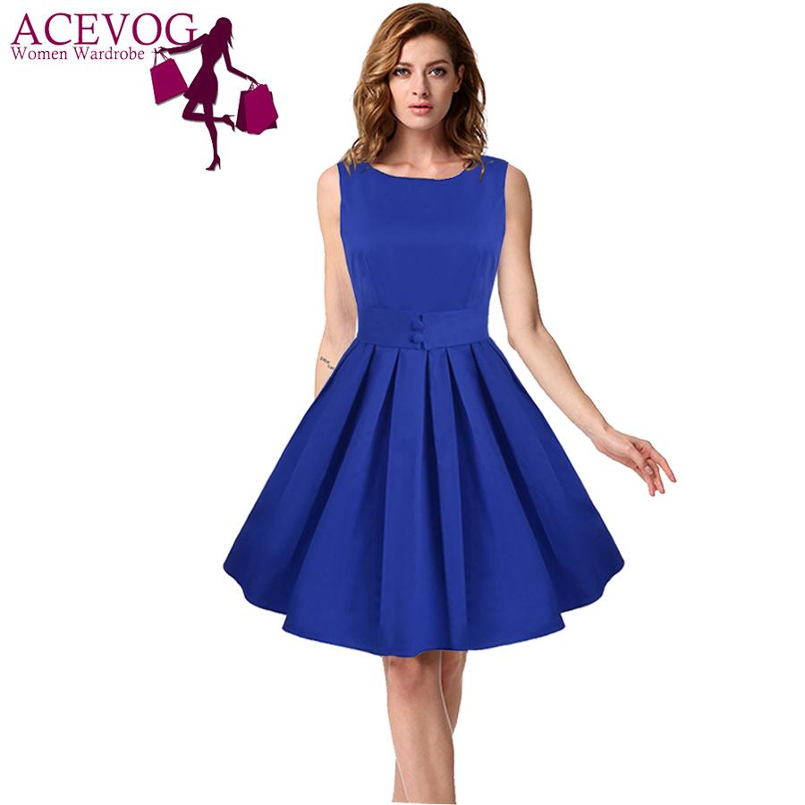 Online kopen Wholesale blauw knop jurk uit China blauw knop jurk ...