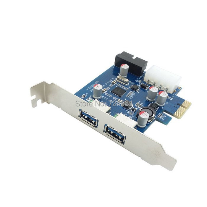 CY USB 3.0 PCI E Card 2 Port and 20pin Female & Low Profile Half Height Bracket(China (Mainland))