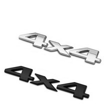 1 Pcs Plastic+aluminum 3D 4x4 Displacement Emblem Badge Truck Auto Motor Car Sticker Decal 2 Colors(China (Mainland))