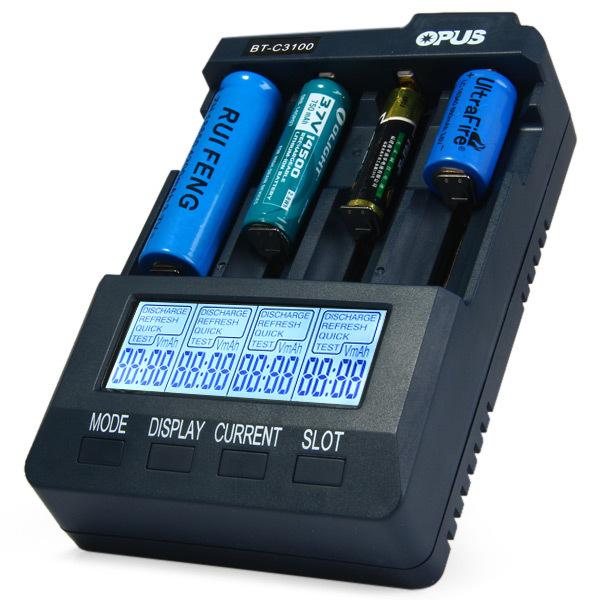 Opus BT-C3100 V2.2 Smart Universal LCD LI-ion NiCd NiMh AA AAA 10440 14500 16340 17335 17500 18490 17670 18650 Battery Charger(China (Mainland))