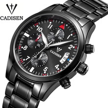 Cadisen Auto Date Watch Men Water Resistant Stainless Steel Men Watch Fashion Dress Business Design Leather Winner Quartz-Watch(China (Mainland))