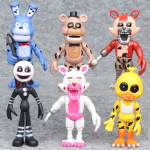 Buy 6Pcs/ lot 10cm Five Nights Freddy's PVC Action Figure Toy Bonnie Foxy Chica Freddy Doll Action Toy Figure Gifts Kids for $8.79 in AliExpress store