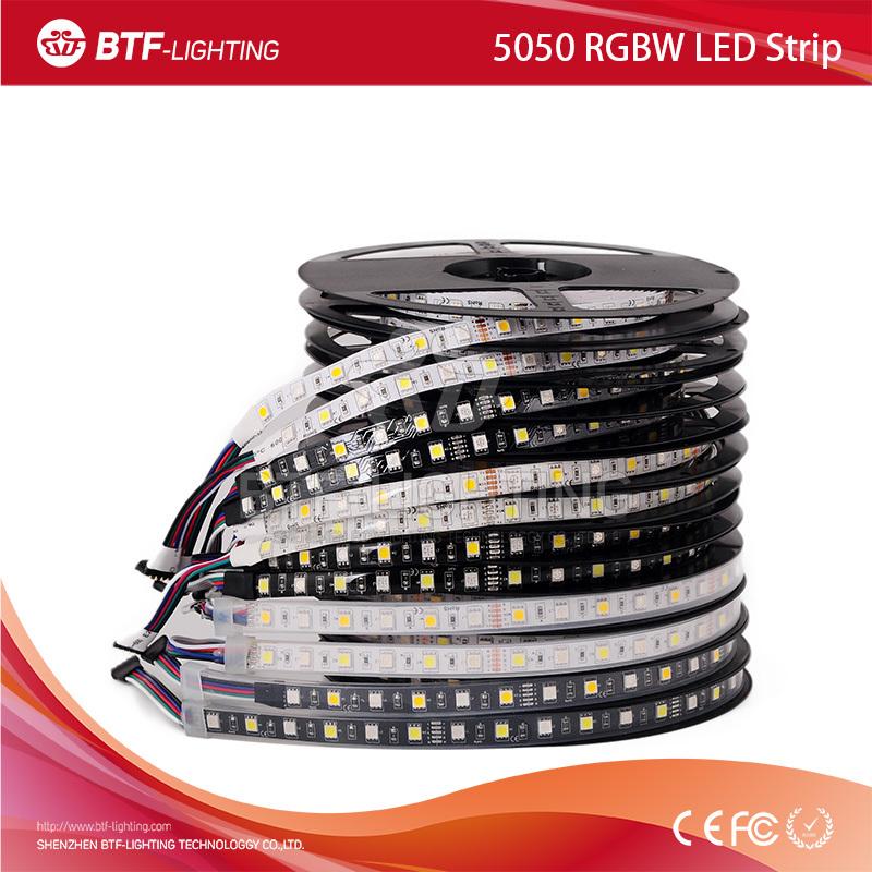 5m 60leds/m 5050 RGBW 300leds RGB+Warm White/Cold White rgbw led strip SMD waterproof IP30/IP65/IP67 Black/White PCB DC12V - Shenzhen BTF-Lighting Technology Co., Limited store