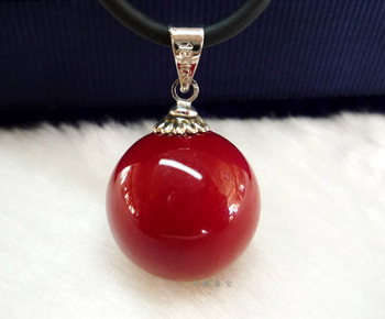 Red coral pendant Free shipping