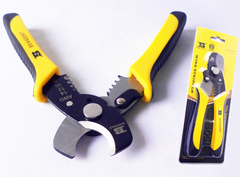 free shipping BOSI 7 AWG 1.6-3.2(8-14) wire stripper cable cutter combined plier 50# steel<br><br>Aliexpress