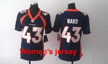 A+++ Women ladies all stitched Denver Broncos ladies 94 DeMarcus Ware 7 John Elway 58 Von Miller 88 Demaryius Thomas(China (Mainland))