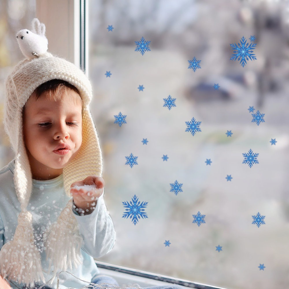 Snowflakes Snow Flakes Frozen Window Wall Sticker Girls Bedroom Holiday Decals(China (Mainland))