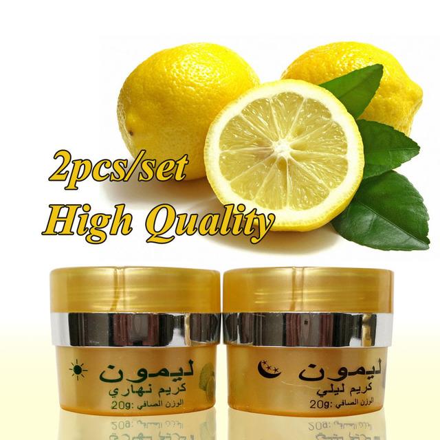 Лимон осветления дневной крем + ночной крем отбеливающая крем для лица