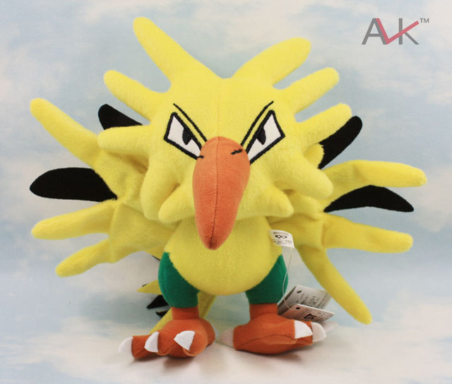 "Free Shipping 5pcs Pokemon Plush Toy Zapdos plush 8"" 20cm Cute Soft Stuffed Animal Doll Kid Gift"