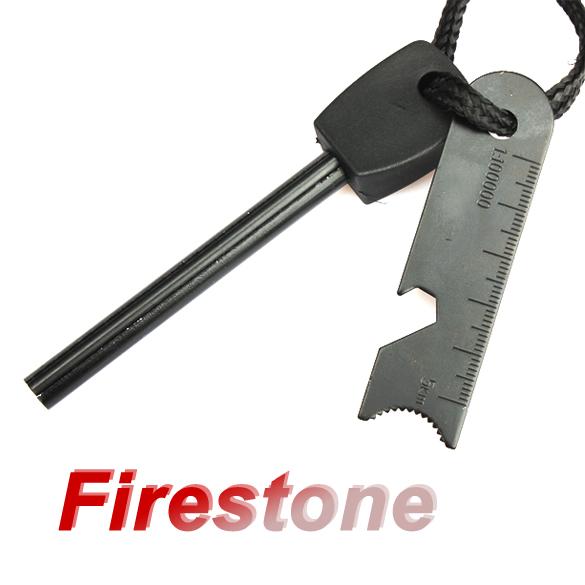 Survival Magnesium Flint Tooth Scraper Stone Fire Starter Lighter Kit Free Shipping #gib(China (Mainland))