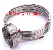 6.35x0.5mm Stainless Steel Coil Gas pipe experiment tube 2 meters(China (Mainland))