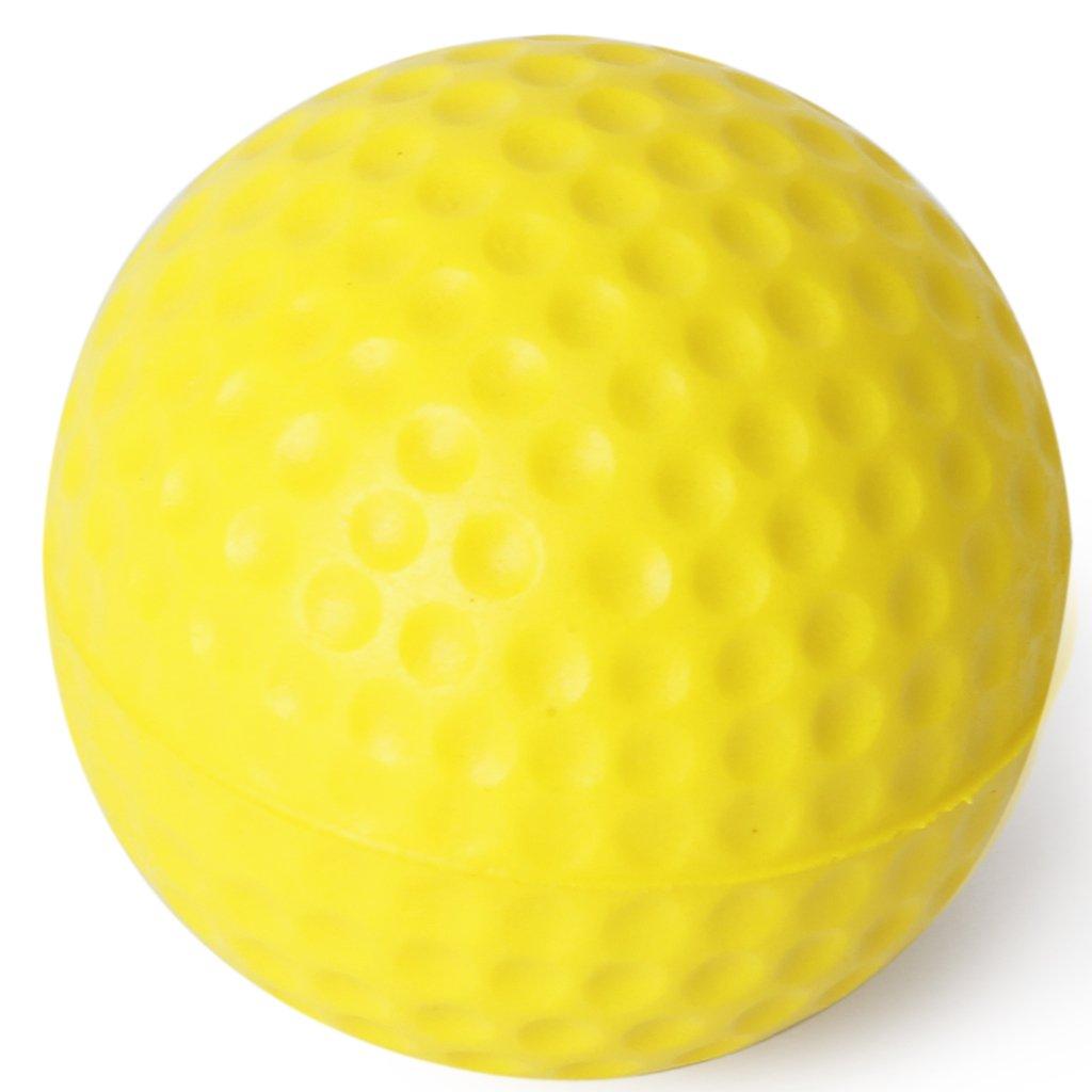 Hot New 10pcs Yellow Soft Elastic Indoor Practice PU Golf Ball(China (Mainland))