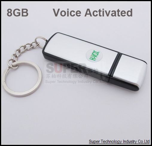 10pcs/lot,8GB Made in Taiwan battery 20hours working low db voice activated Audio recording USB flash disk,audio voice recorder(China (Mainland))
