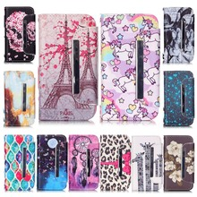 Hot Sale Luxury High Quality Skull Leopard Painting Leather Case For iPhone 4S Brand Mobile Phone cases capa