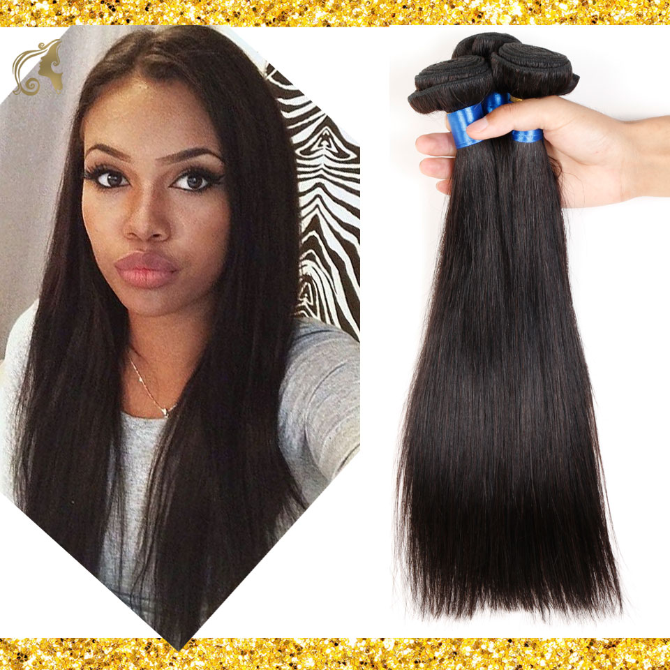 Brazilian Virgin Hair Weave 3 Bundles Straight Human Hair Extension 100% Remy Hair Natural Black Jet Black Rosa Hair Products